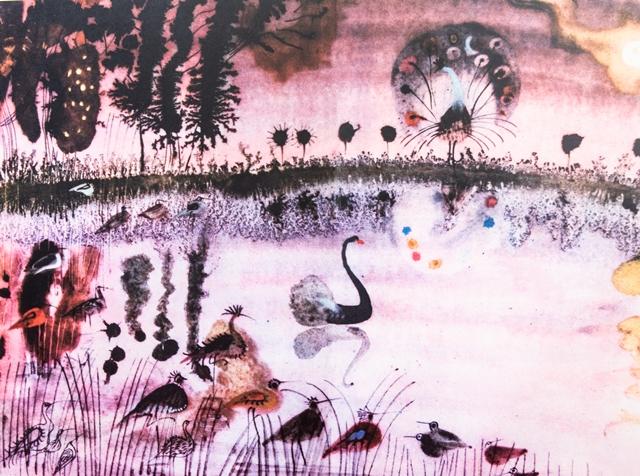 3. Józef Wilkoń, ilustracja do książki Przygoda pewnego pawia, 1966